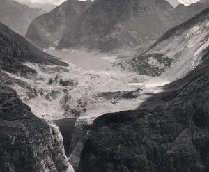 La Valle del Vajont poco dopo il disastro